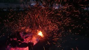 wallpaper spark fire red 5248x2952