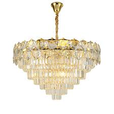 crystal chandelier light gold