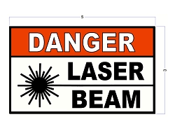 3 X 5 Caution Flammable Liquids Safety Decals