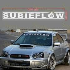 For 40 Subieflow Windshield Banner Sti Wrx Die Cut Vinyl Sticker Decal Ej20 New Ebay