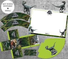 Kit Imprimible Jurassic World Dinosaurios Textos Editables 150
