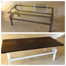 coffee table transformation glass