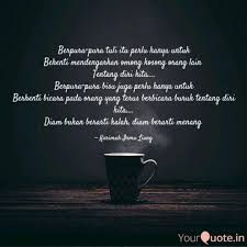 berpura pura tuli itu per quotes writings by karimah irma