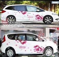 2020 A Set Auto Motor Rose Red Cherry Blossom Power Vehicle Truck Car Truck Decal Vinyl Wrc Totem Graphics Side Decal Body Sticker From Auto1986 51 26 Dhgate Com