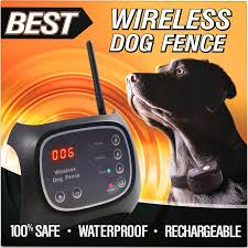 Amazon Com Best Wireless Dog Fence System 100 Safe Completely Wireless 2 Acre Range Easy Plug N Dog Fence Wireless Dog Fence Pet Containment Systems