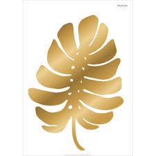 Wall Sticker Palm Leaf Gold