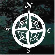 Vintage Nautical Compass Car Decals Window Stickers Decal Junky