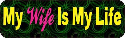 10in X 3in My Wife Is My Life Vinyl Bumper Sticker Car Decal Window Stickers Decals Stickertalk