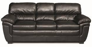fenmore black leather like fabric sofa