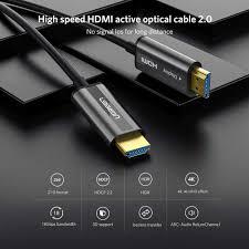 Cáp HDMI dài 15m sợi quang hỗ trợ 4K@60Hz Ugreen 50215