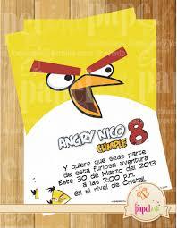 Invitacion Imprimible Angry Birds 60 00 En Mercado Libre