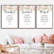 Bible Verses Prints Christian Wall Art Posters Watercolor Flowers Blessed Quotes Canvas Painting Pictures Home Room Decor Painting Calligraphy Aliexpress