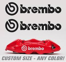2pc Brembo Brake Caliper Decal Sticker Logo Evo Sti Z33 High Temp Renegadelife Ebay