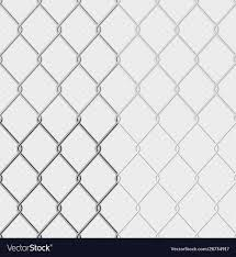 Set Effect Chain Link Fence Wire Mesh Steel Vector Image