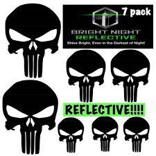 Punisher Skull Sticker Pack Decal Set Bl Buy Online In Guernsey At Desertcart