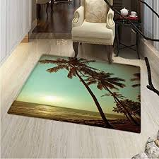 com palm tree print area rug