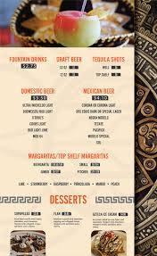 menu azteca mexican restaurants