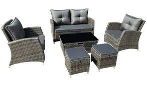seater rattan effect sofa set