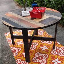 diy pallet round dining table kitchen
