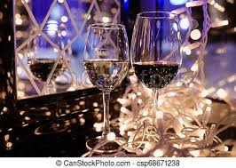 photo of sparkling wine glasses with