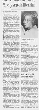 Obituary for Lucille Patterson Wade (Aged 93) - Newspapers.com
