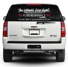 Pure Romance Rear Window Decal Ultimate Girls Night White Pure Romance
