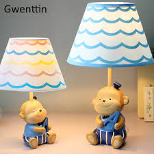 Cartoon Monkey Table Lamps Animal Lamp For Children S Room Bedroom Boy Kids Baby Desk Light Fixtures Led Stand Lights Home Decor Led Table Lamps Aliexpress