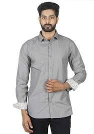 Adam Parker Men Solid Casual Grey Shirt - Buy Adam Parker Men Solid Casual  Grey Shirt Online at Best Prices in India | Flipkart.com
