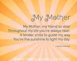 so touching mothers day poems