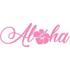Aloha Hibiscus 4 Vinyl Decal Car Window Sticker Car Hawaii Beach Flower 3 49 Picclick