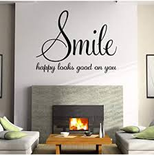 Amazon Com Dalxsh Family Words Smile Quotes Wall Sticker Poster Living Room Bedroom Wall Stickers Home Decoration Vinyl Wall Decals Quotes Sayings 45x58cm Furniture Decor