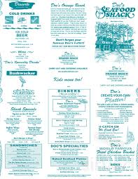 Doc's Seafood Shack & Oyster Bar menu ...