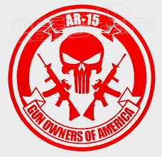 Ar 15 Gun Owners Of America Decal Sticker Dm Decalmonster Com