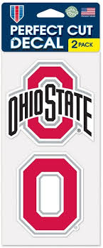Amazon Com Ohio State Buckeyes Auto Decals 2 Pack 4 By 4 Each Sports Fan Automotive Decals Sports Outdoors