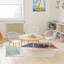 Jamesdar Kurv White Natural Mini Kids Chair Set Of 2 Jcha959 2wh The Home Depot