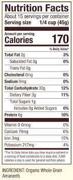 organic amaranth grain gluten free