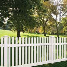 Shop Barrette Elite Lennox Straight 4 Ft X 8 Ft White Dog Ear Picket Vinyl Fence Panel At Lowes Com White Garden Fence Backyard Fences Fence Styles