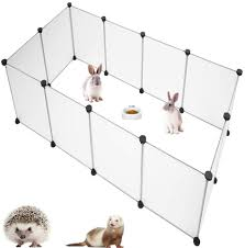 Amazon Com Pinvnby Pet Playpen Portable Resin Pet Yard Fence Puppy Crate Kennel For Dog Cat Kitten Rabbit Guinea Pig Bunny Hedgehogs Outdoor Indoor 12 Panels 13 8 X 17 7 Inches Pet Supplies