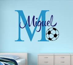 Customize Name Soccer Wall Stickers For Kids Room Personalized Boys Name Bedroom Nursery Wall Art Pic Baby Wall Decals Jw012 Buy At The Price Of 8 98 In Aliexpress Com Imall Com
