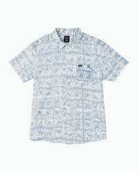 flower block printed on up shirt