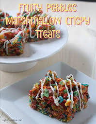 fruity pebbles marshmallow crispy
