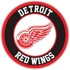 Amazon Com Hotprint Red Wings Hockey Detroit Logo Sport Car Bumper Sticker Decal 5 X 5 Kitchen Dining