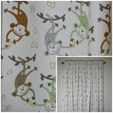 Monkey Bedroom Decor Monkey Curtains Boys Room Curtains Etsy Kids Room Curtains Monkey Bedroom Decor Boys Room Curtains