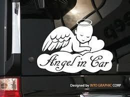 Angel In Car Cute Vinyl Car Decal Sticker 7 75 W Baby On Board Ebay