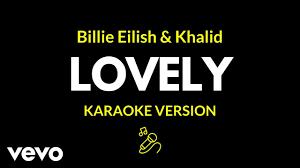 Billie Eilish - lovely (Karaoke Version/With Background Vocals ...