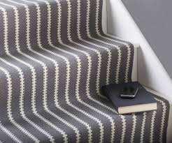 gray white striped carpet runners