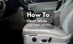 how to clean white leather seats make