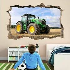 Tractor Farm Machine 3d Wall Sticker Decal Poster Kids Boys Bedroom Decor Bf10 Ebay