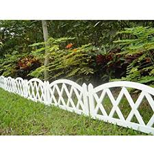 Amazon Com Hemoton Miniature Garden Fence Wooden Picket Fence Border Bonsai Fairy Garden Decoration Ornament 100cm X 5cm White Garden Outdoor