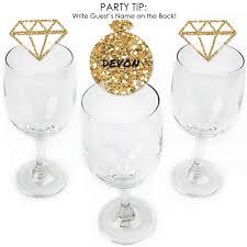 Bride Tribe Shaped Bridal Shower Or Bachelorette Party Wine Glass Markers Set Of 24 Walmart Com Walmart Com